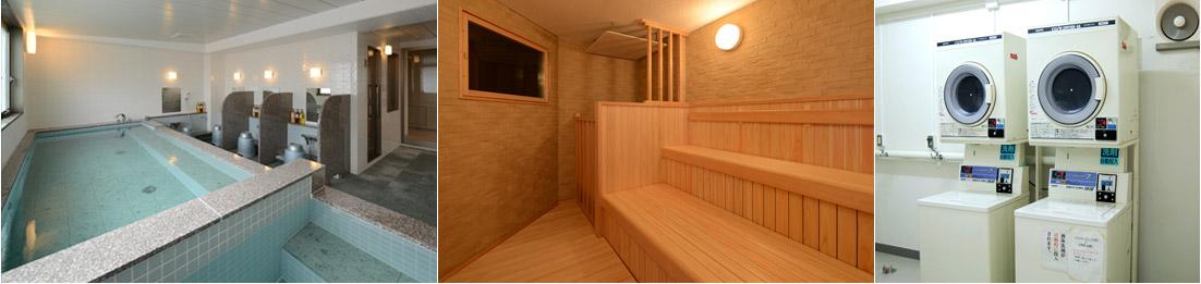 男性専用大浴場・サウナ・コインランドリー3階